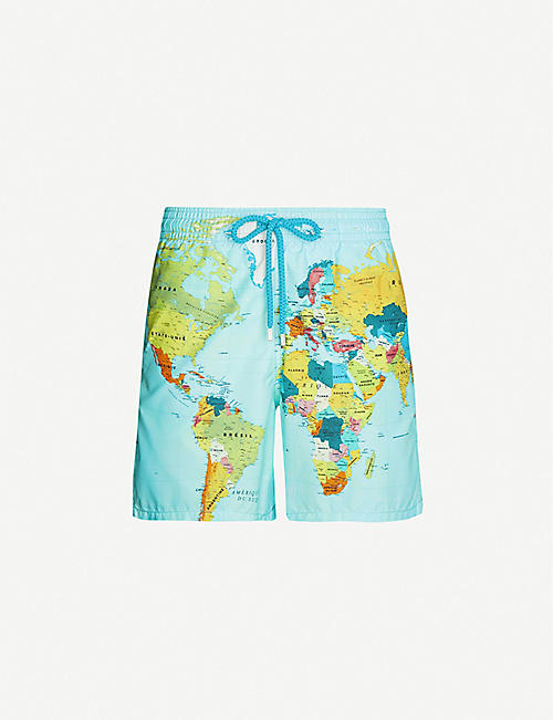 VILEBREQUIN Mappemonde Sonar patterned swim shorts