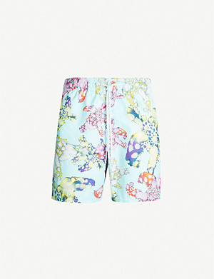 VILEBREQUIN Moorea watercolour turtle-print swim shorts