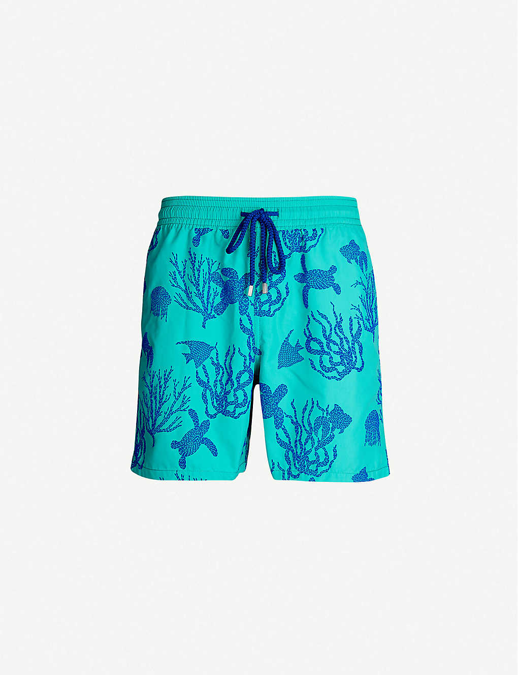 ff9ea6d96c Moorea turtle and coral-print relaxed-fit swim shorts - Veronese green ...