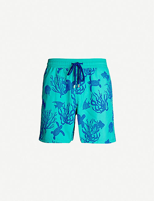 9f41c7eb3a VILEBREQUIN Moorea turtle and coral-print relaxed-fit swim shorts