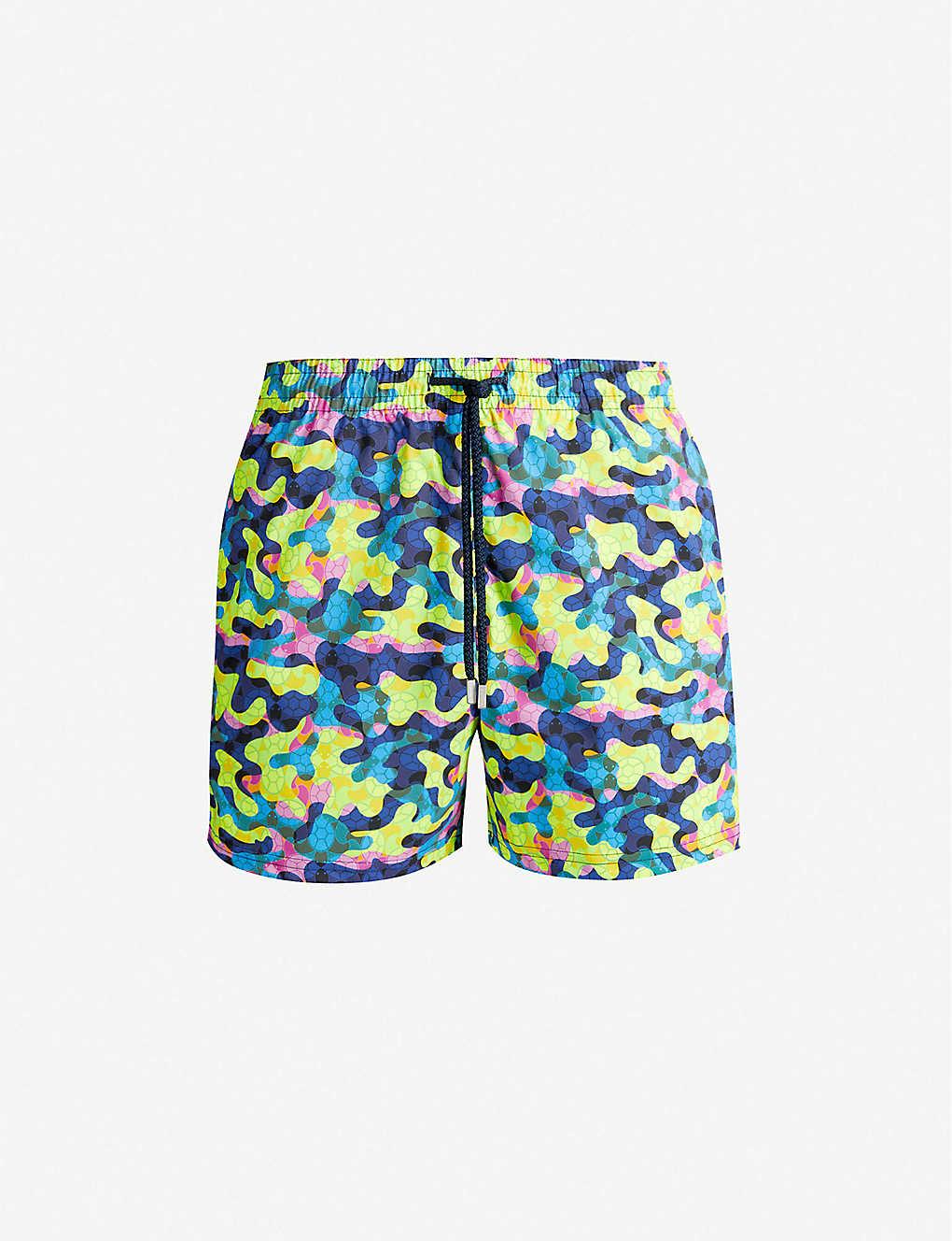 95642cf29b ... Moorise camouflage turtle-print swim shorts - Neon yellow ...