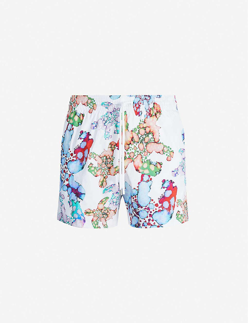 eee25ef825 VILEBREQUIN - Moorise watercolour turtle swim shorts | Selfridges.com