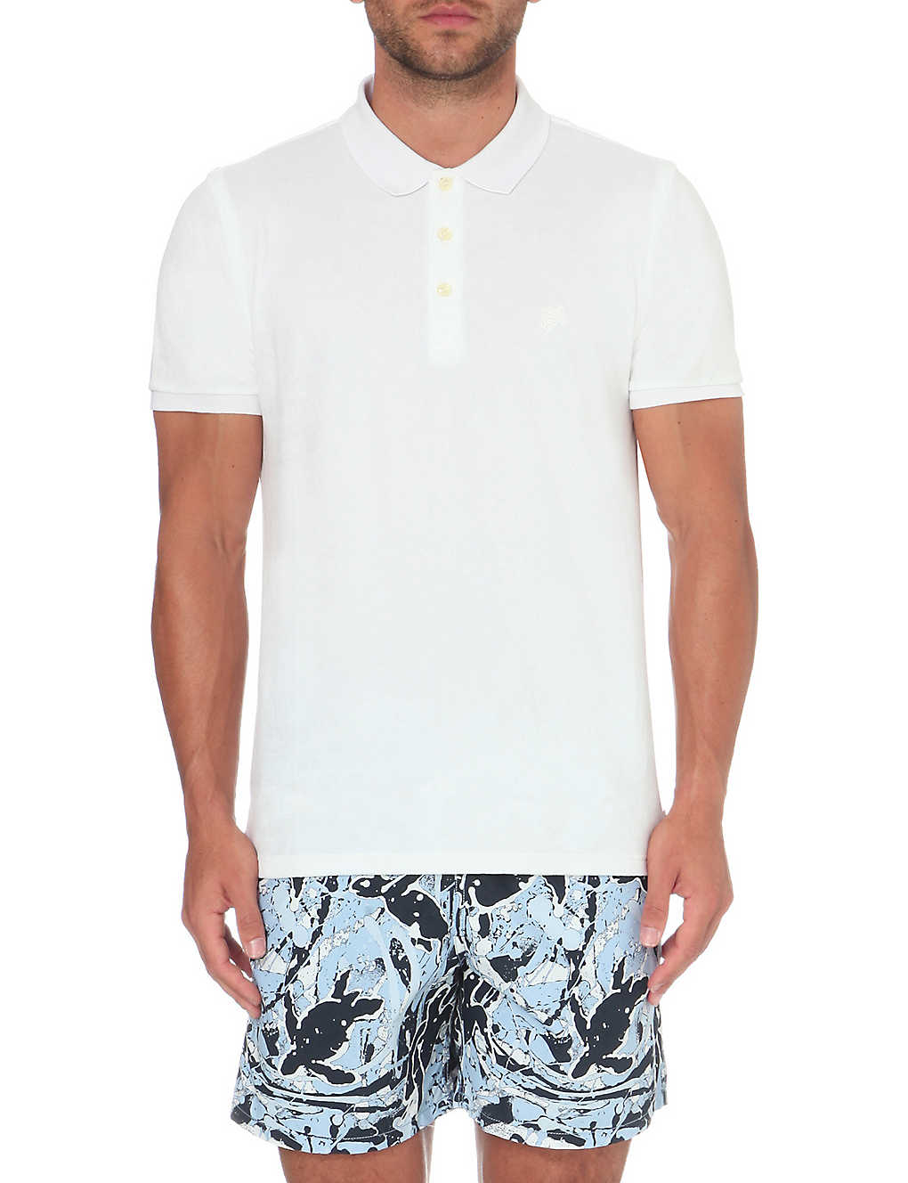 a766784988 VILEBREQUIN - Pacific cotton-towelling polo shirt | Selfridges.com