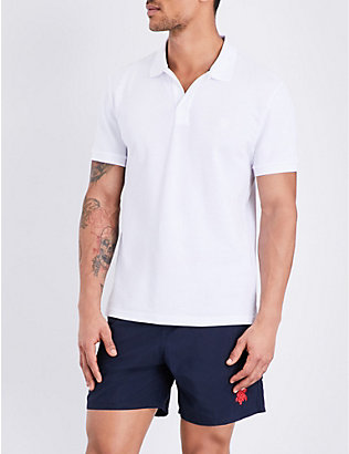 VILEBREQUIN: Palatin cotton-piqué polo shirt