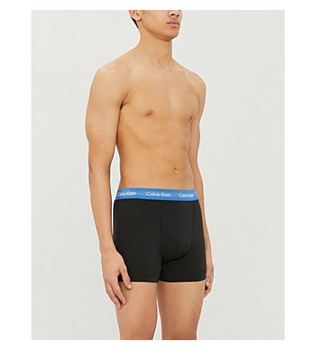 Calvin Klein Pants CLASSIC-FIT STRETCH-COTTON TRUNKS PACK OF THREE