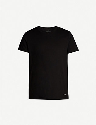 CALVIN KLEIN: Pack of two crewneck cotton T-shirts