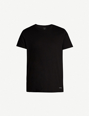 CALVIN KLEIN Pack of two crewneck cotton T-shirts