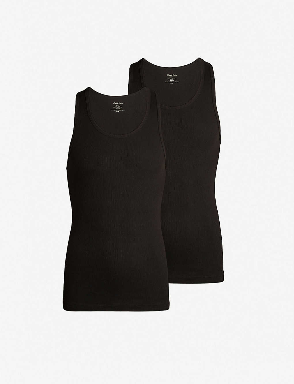 CALVIN KLEIN: Pack of two Cotton Classics cotton tank top