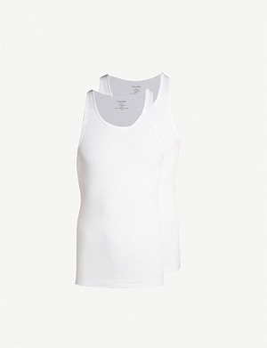 CALVIN KLEIN Pack of two Cotton Classics cotton tank top