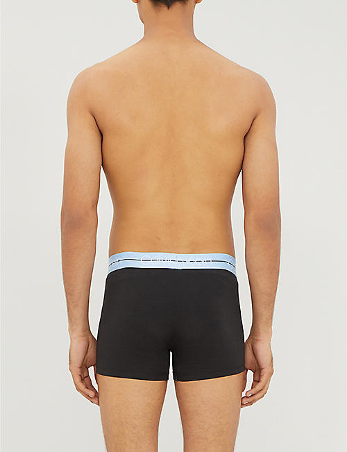 CALVIN KLEIN Pack of three branded stretch-jersey trunks