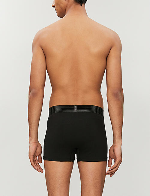 CALVIN KLEIN Iron Strength regular-fit stretch-cotton trunks