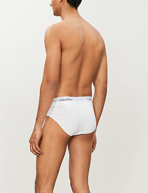 CALVIN KLEIN Pack of two Modern Essentials modern-fit stretch-cotton briefs