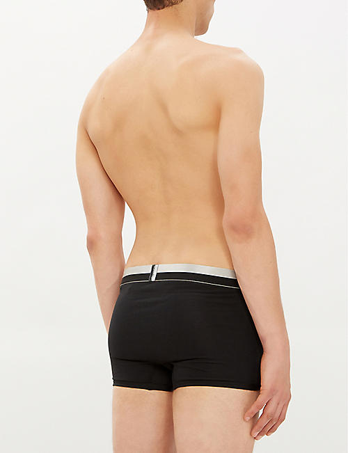 CALVIN KLEIN Magnetic Stripe regular-fit stretch-cotton trunks