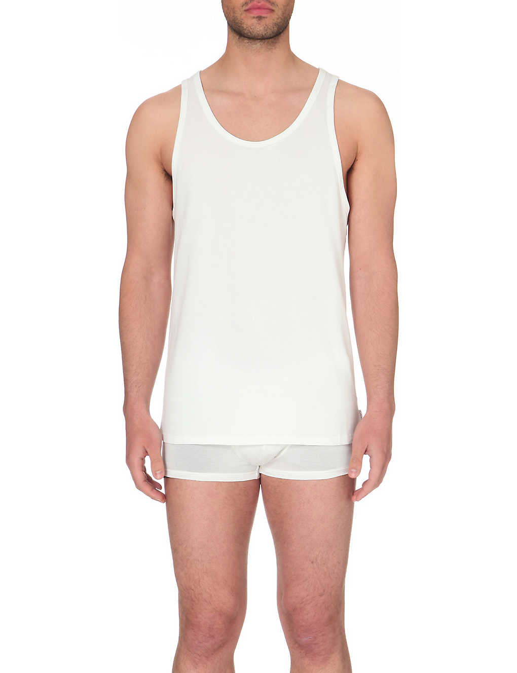 b3442b4764b CALVIN KLEIN - Modern stretch-cotton tank tops pack of 2 ...
