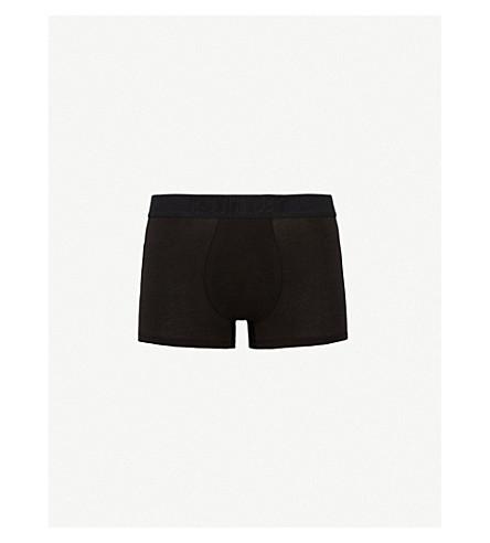 CALVIN KLEIN Ck black slim-fit stretch-cotton trunks (Blk