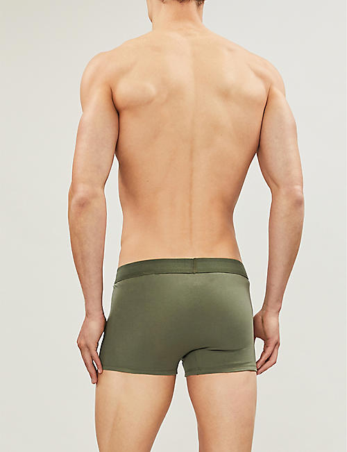 CALVIN KLEIN Monogram regular-fit stretch-cotton trunks