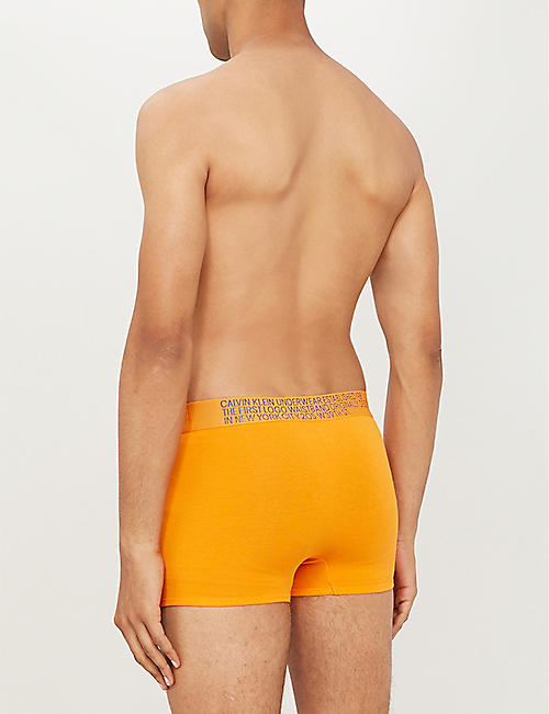 CALVIN KLEIN Statement 1981 classic-fit stretch-cotton trunks