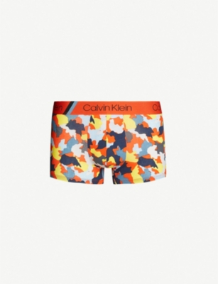 CALVIN KLEIN Expanded Camo classic-fit stretch-cotton trunks
