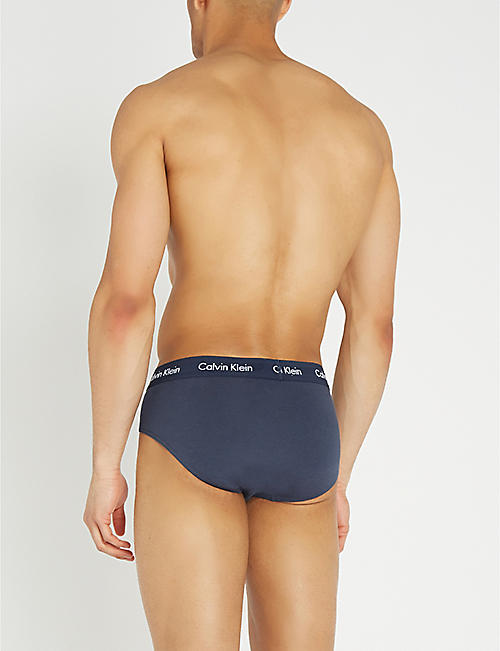 CALVIN KLEIN Classic-fit low-rise set of three stretch-cotton briefs