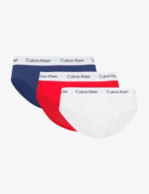 CALVIN KLEIN Pack of three Classic stretch-cotton briefs
