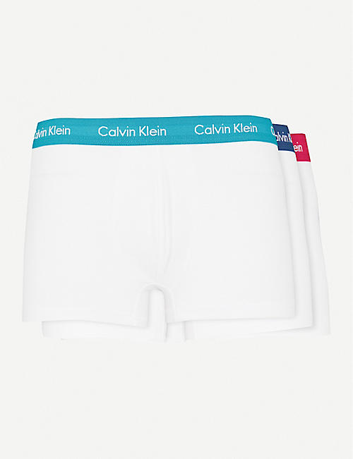 a7eadbdb880f CALVIN KLEIN Pack of three classic-fit stretch-cotton trunks