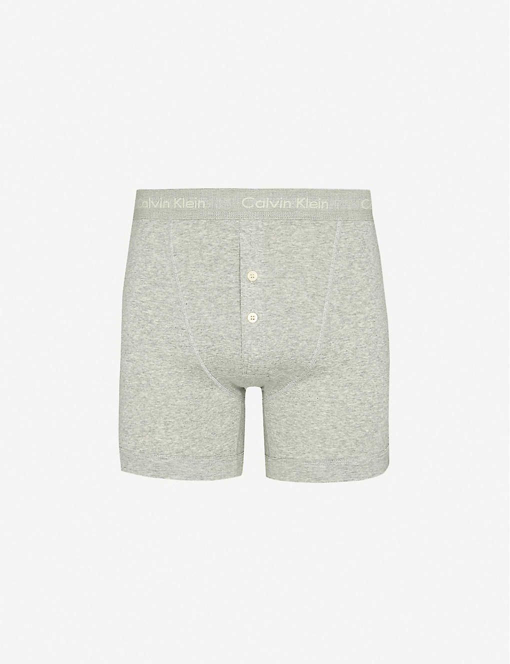 CALVIN KLEIN: Button-fly cotton-jersey boxer briefs
