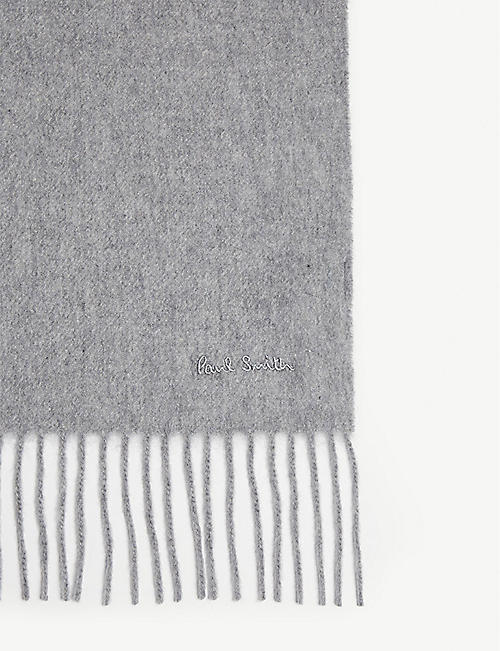 PAUL SMITH Solid cashmere scarf