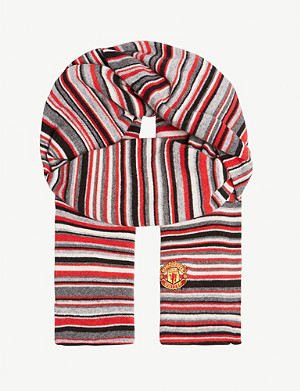 PAUL SMITH Manchester united striped scarf