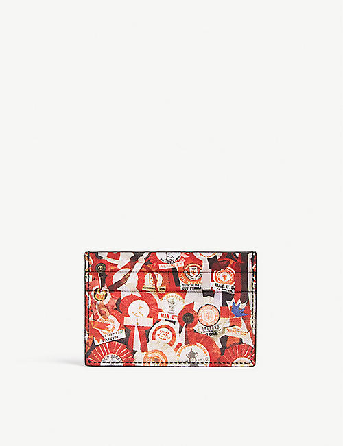 PAUL SMITH Manchester United rosette leather card holder