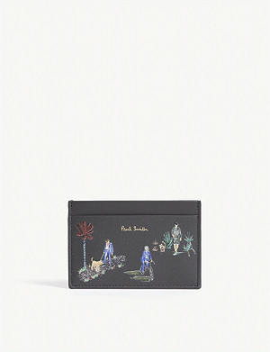 PAUL SMITH Dog walk leather card holder