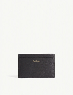 PAUL SMITH Contrast leather card holder
