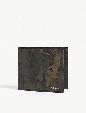 PAUL SMITH Naked Lady camouflage leather wallet