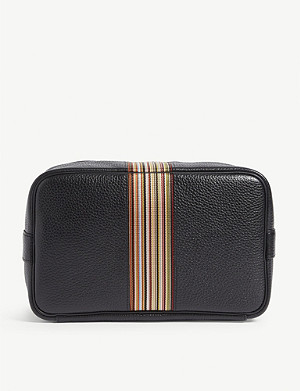 PAUL SMITH Signature stripe leather wash bag