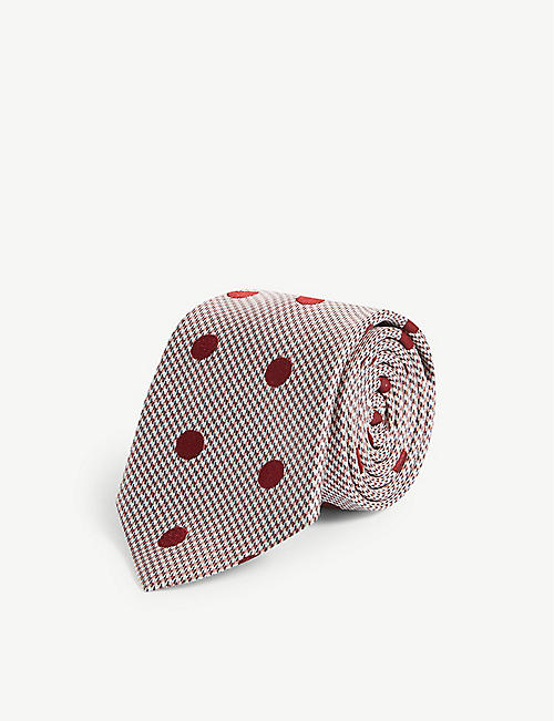 96d855108a9 PAUL SMITH Polka-dot houndstooth print silk tie