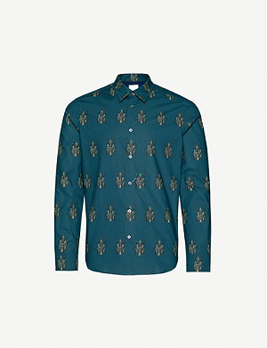 PAUL SMITH Beetle-print cotton-poplin shirt