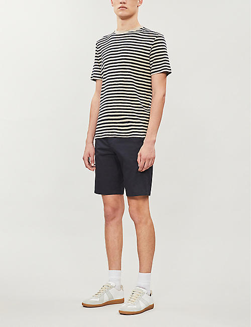 PAUL SMITH Slim-fit cotton-twill shorts