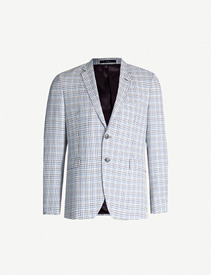 PAUL SMITH Checked Kensington-fit wool-and-silk blend blazer