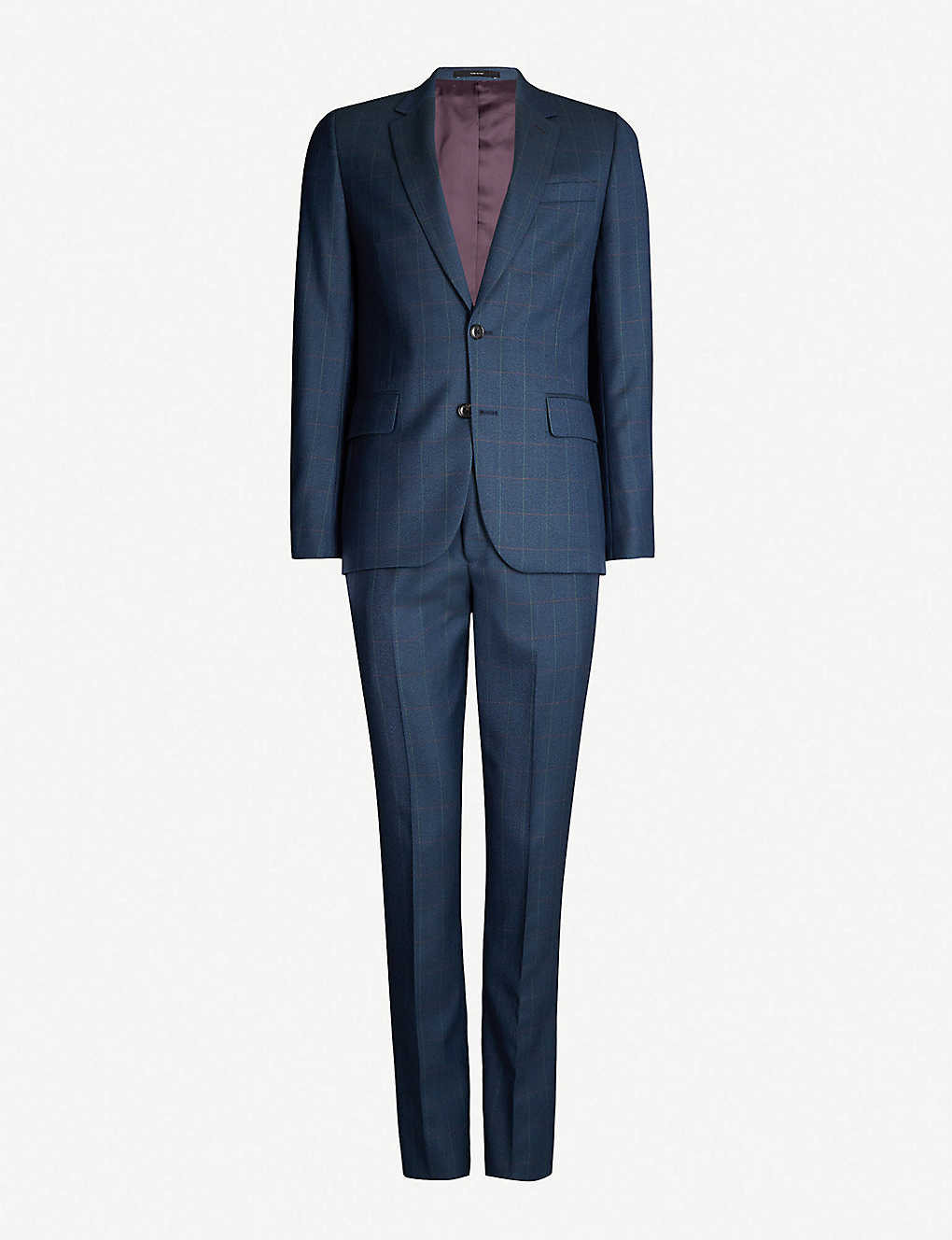 3616eb762adec8 PAUL SMITH - Check Soho-fit wool suit | Selfridges.com