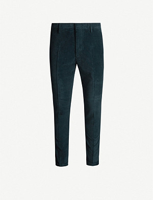 PAUL SMITH Slim-fit cotton and cashmere-blend trousers