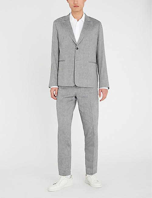 a2a28e74c6d PAUL SMITH Regular-fit wool and linen-blend suit