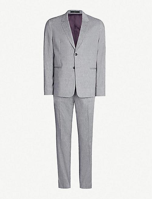 3f5d858bde0 PAUL SMITH Regular-fit wool and linen-blend suit