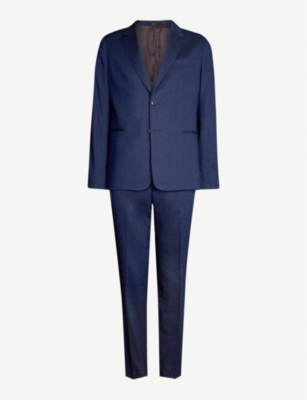 PAUL SMITH Regular-fit wool and linen-blend suit
