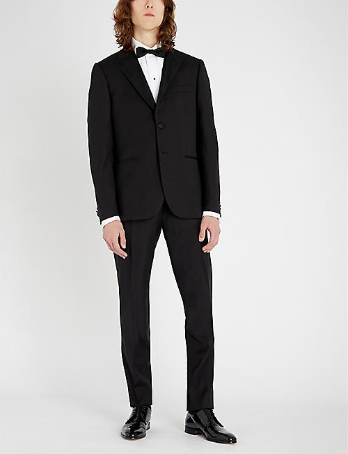 PAUL SMITH Regular-fit wool and satin suit
