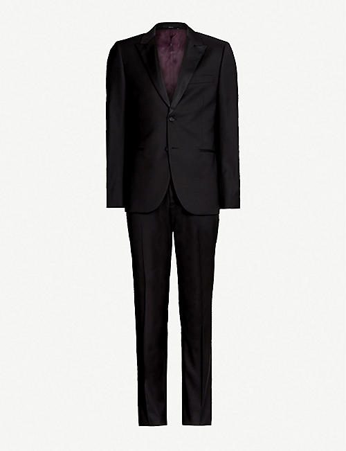 dab7e588264 PAUL SMITH Regular-fit wool and satin suit
