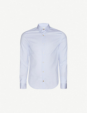 PAUL SMITH Striped slim-fit cotton shirt