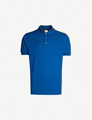 PAUL SMITH Short-sleeved cotton-piqué polo shirt