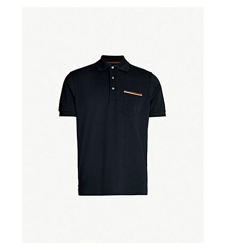3a6638476b PAUL SMITH - Striped-pocket cotton-piqué polo shirt   Selfridges.com