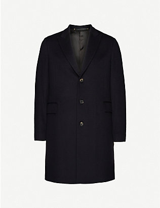 PAUL SMITH: Single-breasted wool and cashmere-blend overcoat