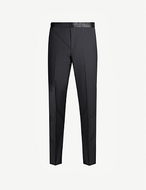 PAUL SMITH Slim-fit wool and mohair-blend trousers
