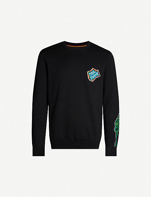PAUL SMITH Patch-embellished cotton-jersey sweatshirt